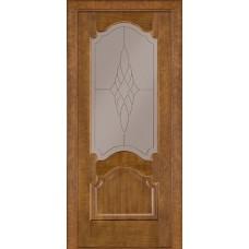 Стекло в двери Классик 08 белое / бронза
