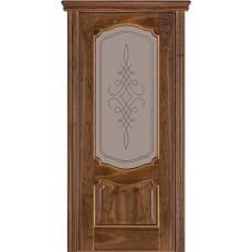 Стекло в двери Венеция 05 белое / бронза