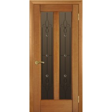 Стекло в двери Модерн белое / бронза