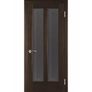 Стекло двери Дельта белое / бронза