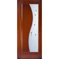Стекло в двери Анталия белое / бронза